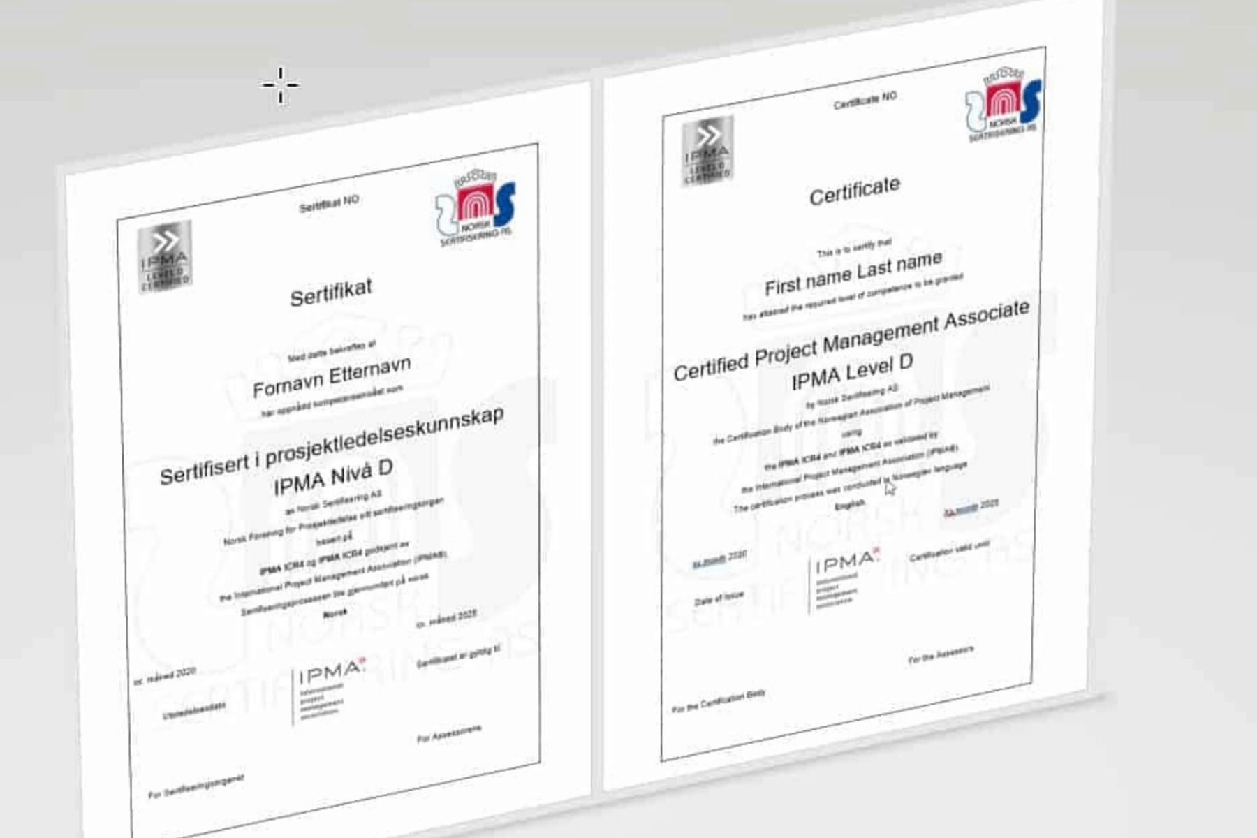 Orienteringsmøte: Presentasjon av IPMA-sertifisering